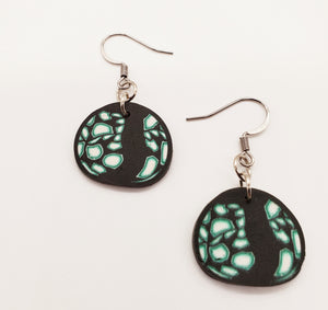 Madiera Cane Disk Earrings No. 2