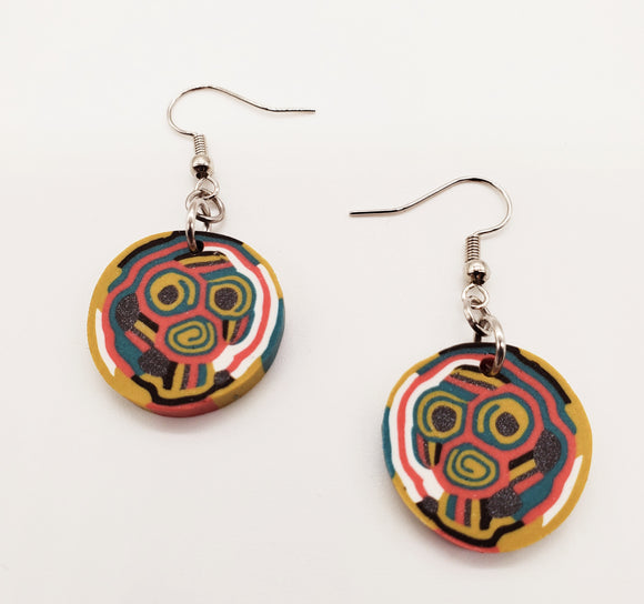 Coco Cane Disk Earrings