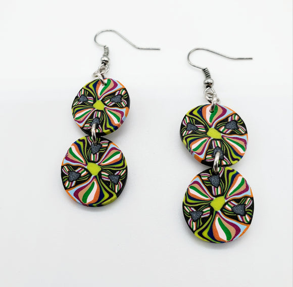 Mazatlan Cane Disk Earrings