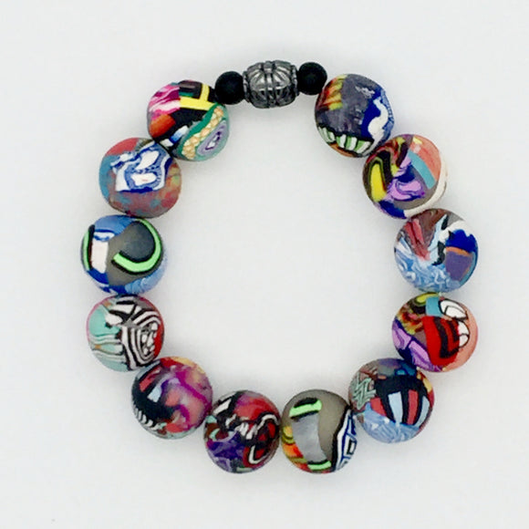 Mixed Cane Bracelet No. 7