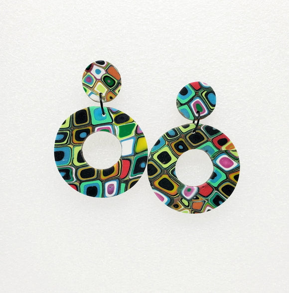 Klimt Hoop Earrings
