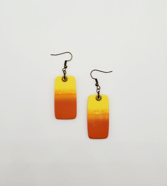 Autumn Sunset Rectangular Earrings