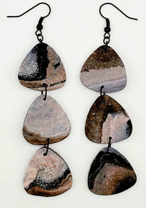 Textured Gray Granite Dangles