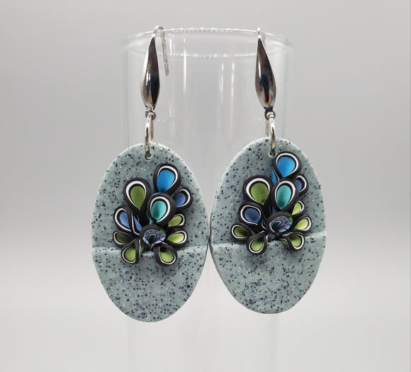 For the Love of Plants Oval Earrings