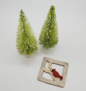 "Winter Wonderland's ""Cardinal in the Window"" Brooch"