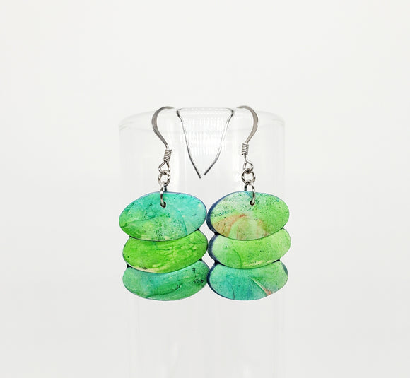 NEW! Watercolor Abstract Ovals in Blues/Greens