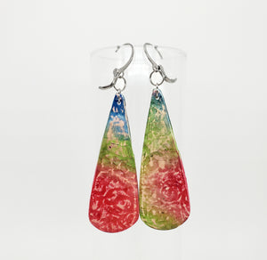 NEW! Textured Watercolor Dangles in Mixed Colors