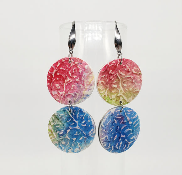 NEW! Textured Watercolor Circles in Mixed Colors