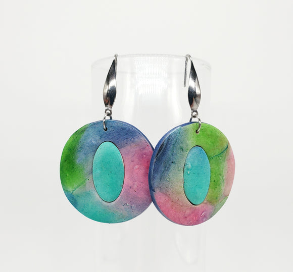 NEW! Watercolor Circle/Oval in Mixed Colors