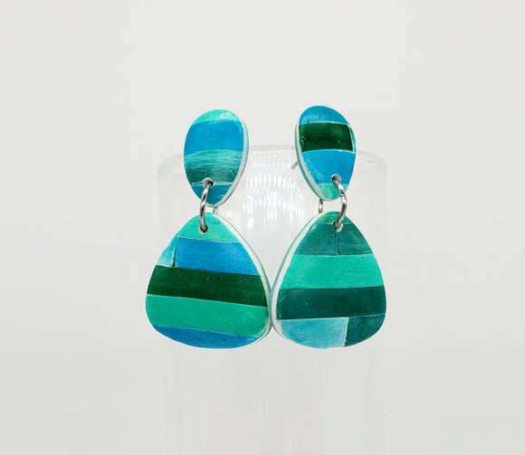 Color Tribe Aqua Triangle Dangles No. 2