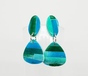 Color Tribe Aqua Triangle Dangles No. 1
