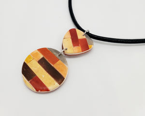 Color Tribe Mesa Abstract Necklace