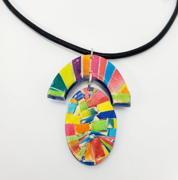 Color Tribe Iris Sunrise Necklace