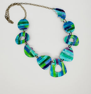 Color Tribe Aqua Necklace