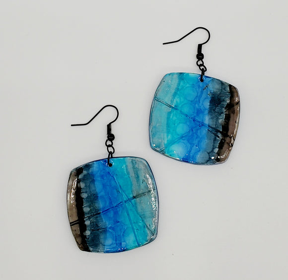 NEW! Stormy Seas Abstract Earrings