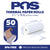 POS1 Thermal Paper 2 1/4 x 16 ft for Poynt Smart Terminal Receipt Printer 18mm diameter CORELESS BPA Free 50 rolls