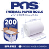 POS1 Thermal Paper 2 1/4 x 50 ft 30mm diameter CORELESS BPA Free 200 rolls