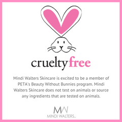 At Mindi Walters Skincare we love animals just as much as we love our skincare. That is why we do test any of our products on animals and we do not source any ingredients that are tested on animals.
