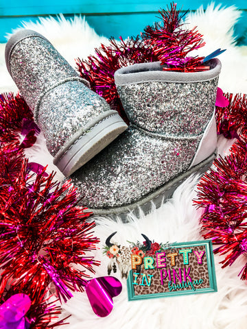 Girls Sequins Winter Boots