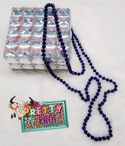 Royal Blue Beads Necklace