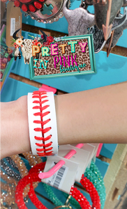 Leather Snap Baseball Bracelet