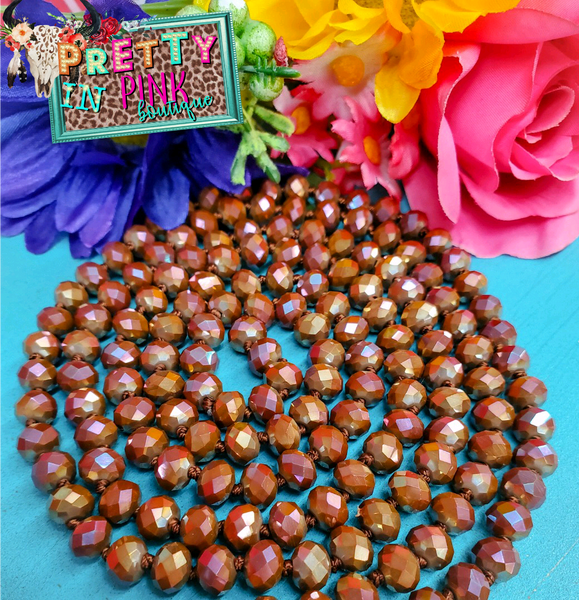 Rose Copper Beads Necklace
