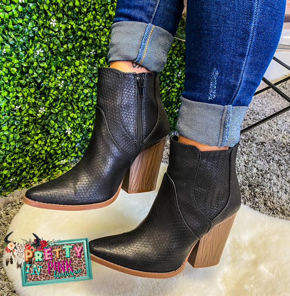 Show Stopper Booties (Black)