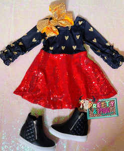 Sparkle Hearts Girls Dress