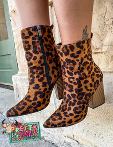 Long Live Leopard Booties