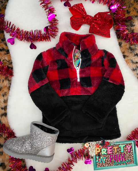Plaid Girls Sherpa