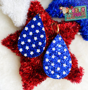 Star Spangled Blue Earrings