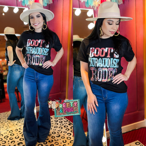 Boots Turquoise Rodeo Tee