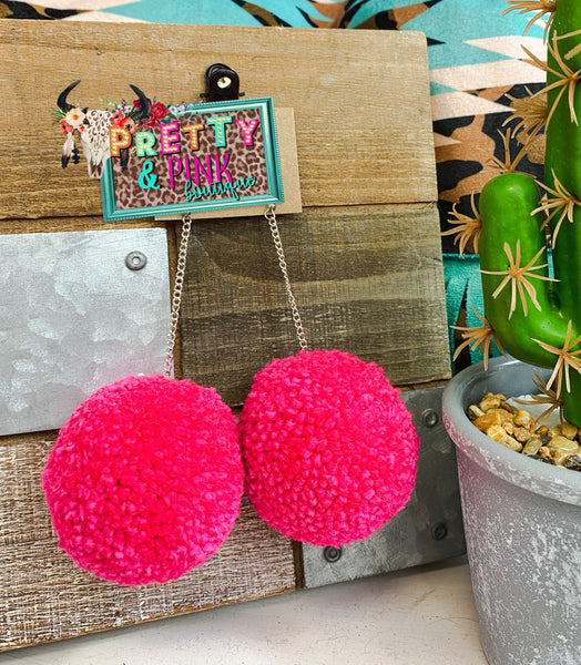 Off The Chain Pom Pom Earrings