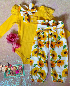 Sunflowers Girls Set