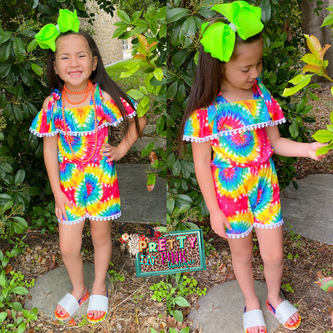 Happy Colors Girls Romper