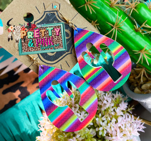 Cactus Serape Earrings