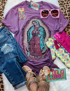 Virgin Mary Tee (Lavender)