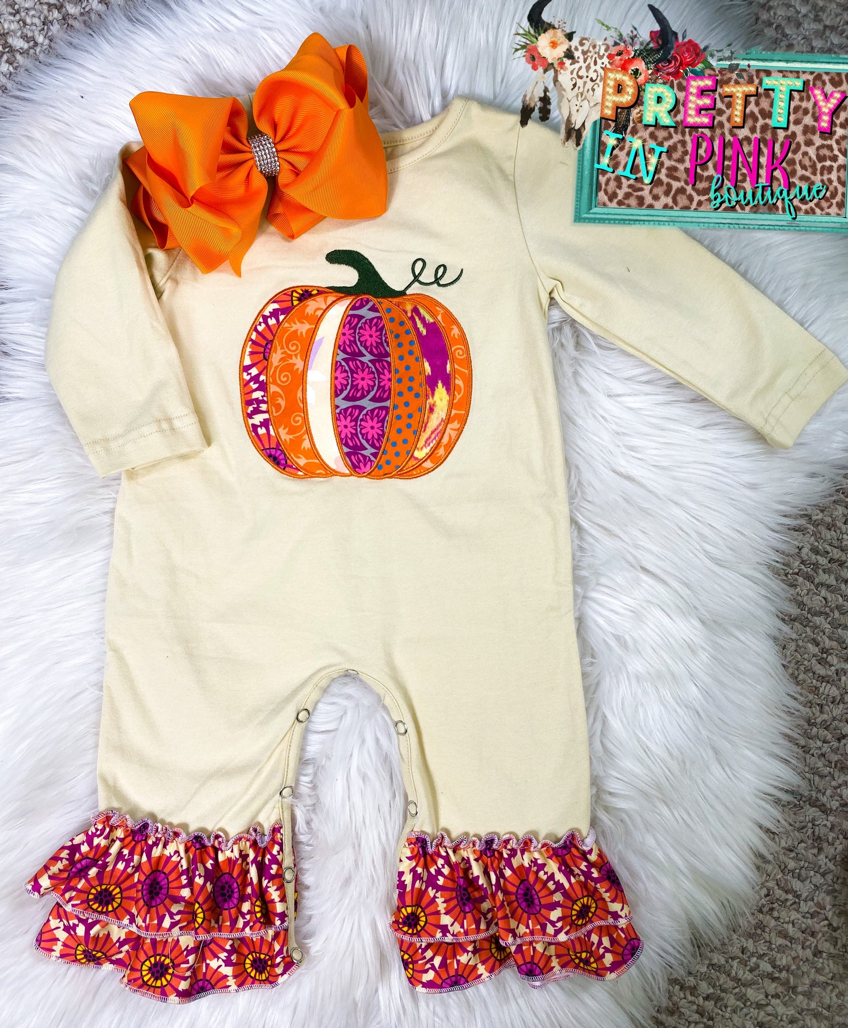 Fall Kisses Baby Romper