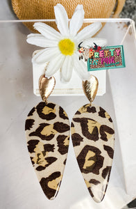 Blair Leopard Earrings