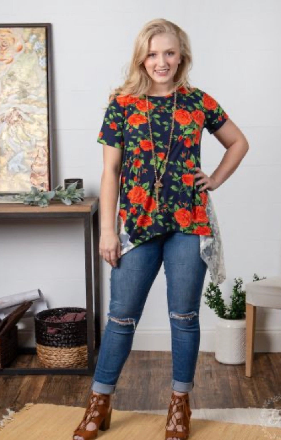 Stop And Smell The Roses Tunic