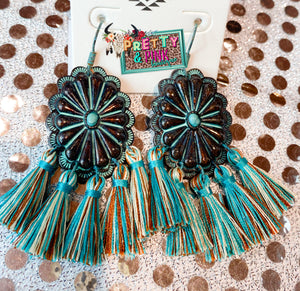 Pretty In Turquoise Earrings