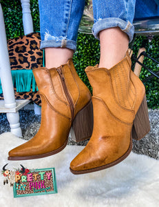 Show Stopper Booties (Tan)