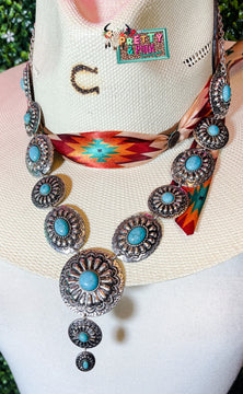 Frozen Oval Necklace