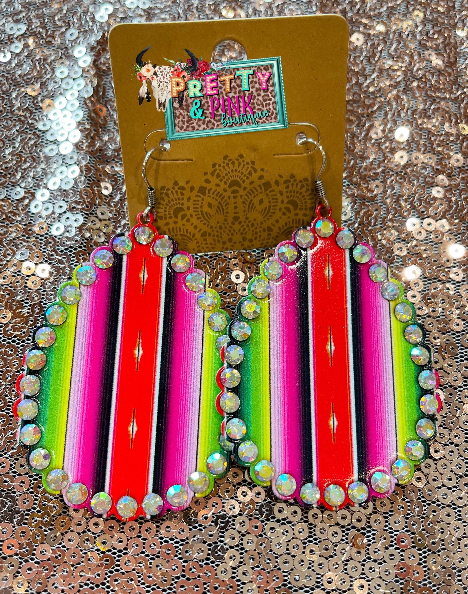 Serape Bling Earrings