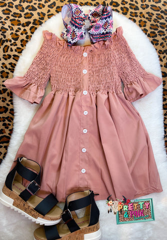 Yadi Girls Mauve Dress
