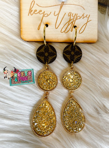 Druzy Gypsy Earrings