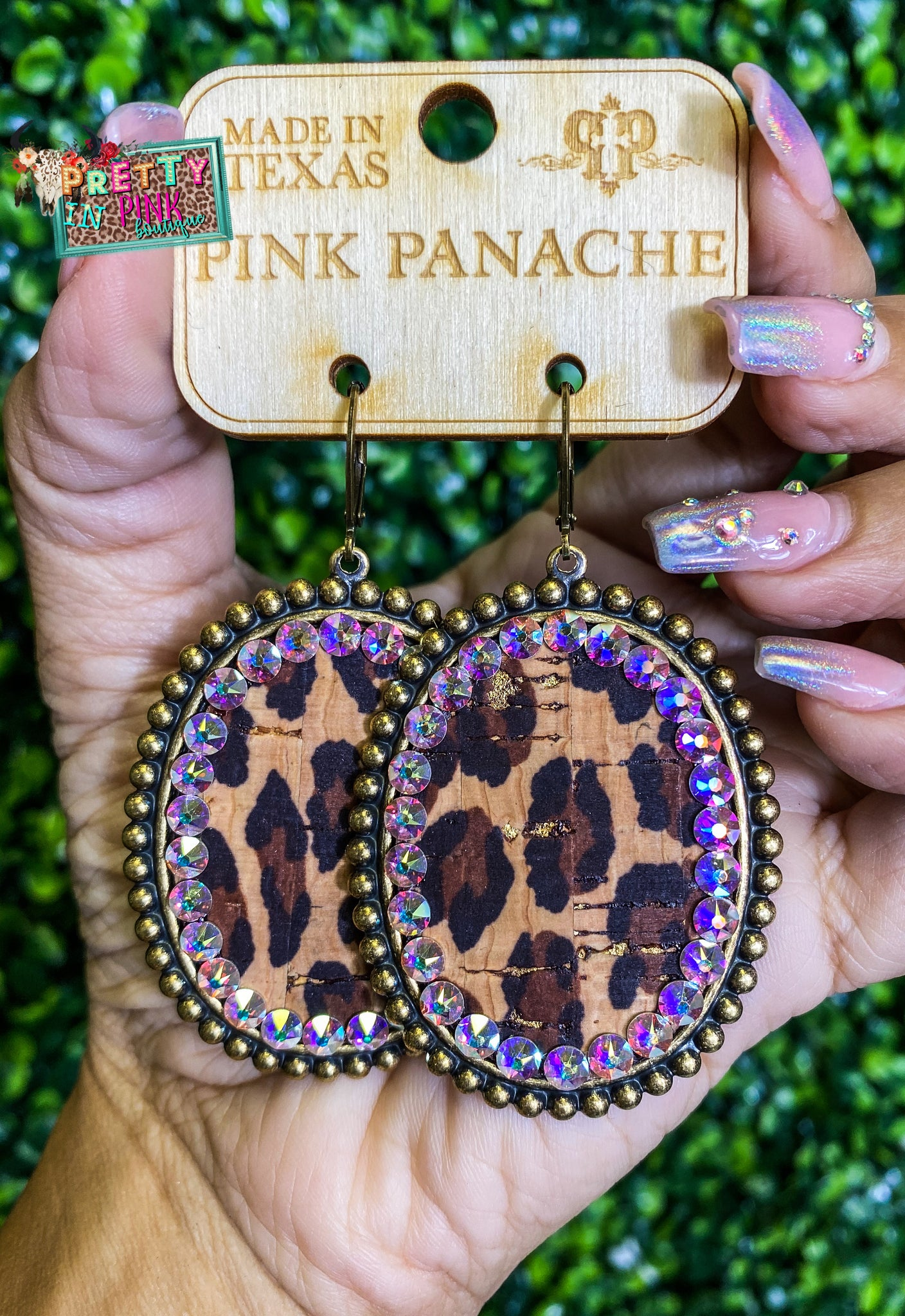 PP Leopard Oval Earrings