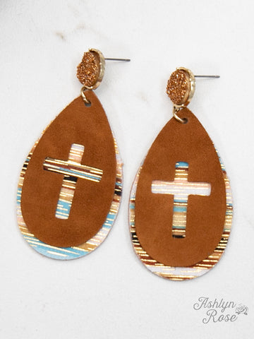 Get by Faith Cross Earrings