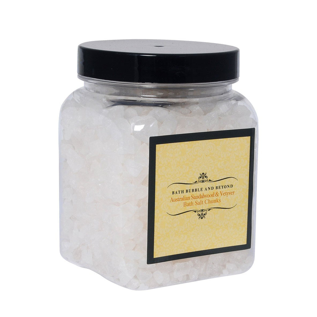 Australian Sandalwood & Vetyver Luxury Bath Salt Chunks-Perfect Pamper Gifts