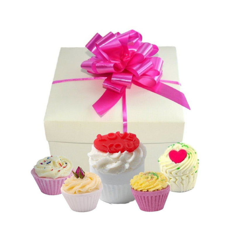Love You Cupcake Bath Bomb Gift Set-Perfect Pamper Gifts
